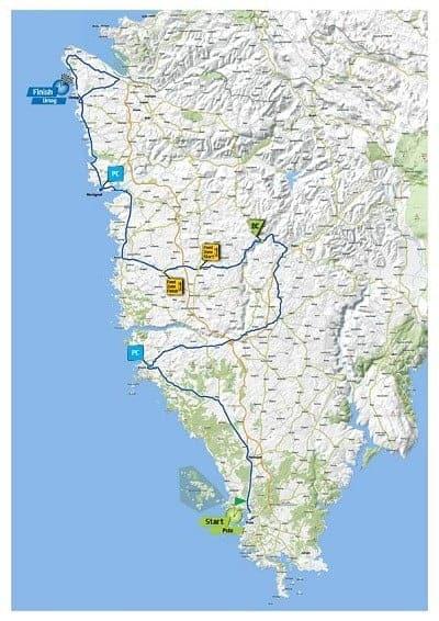 Die Strecke der 4. Etappe von Pula nach Umag. Foto: Facebook
