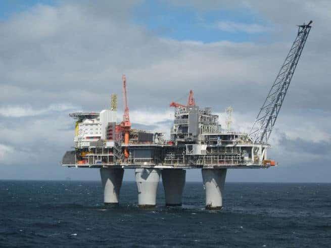 Eine Norwegische Gasplatform. Foto: Wikipedia