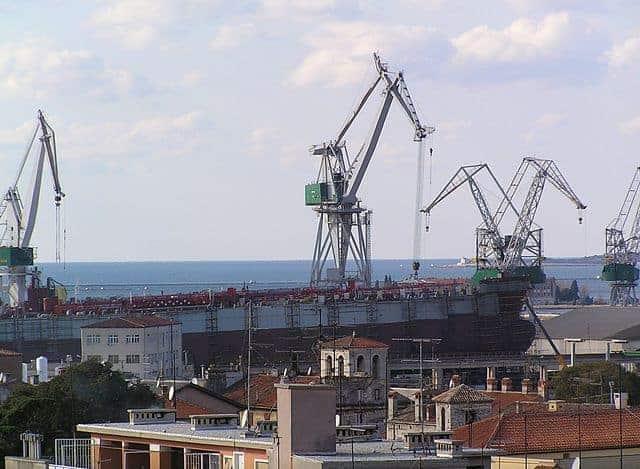 Die Werft Uljanik heute. Foto: Orlović