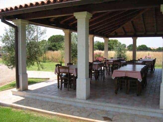 "Terrasse des ""Alla Beccaccia"". Foto: Istria-Goutmet.com"