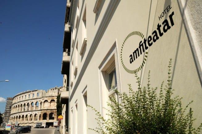 So nah zum Amphitheater von Pula befindet sich das Restaurant Amfiteatar. Foto: hotelamfiteatar.com