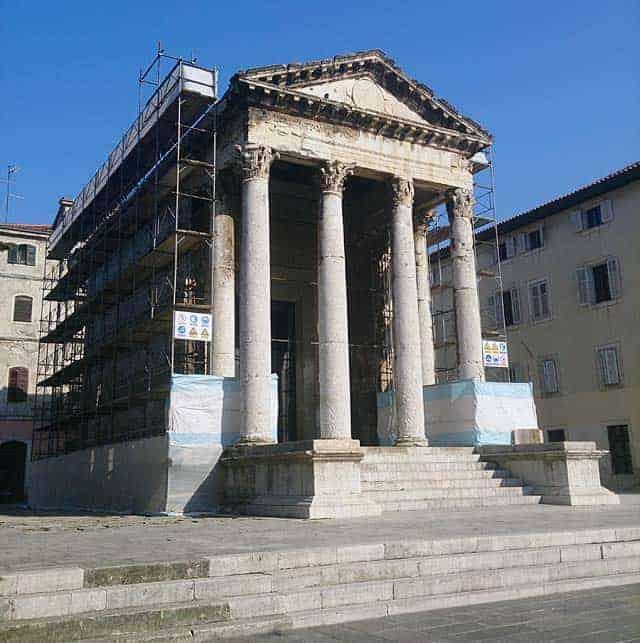 Der Augustustempel in Pula heute. Foto: InIstrien.hr, Autor: Enio Pašalić