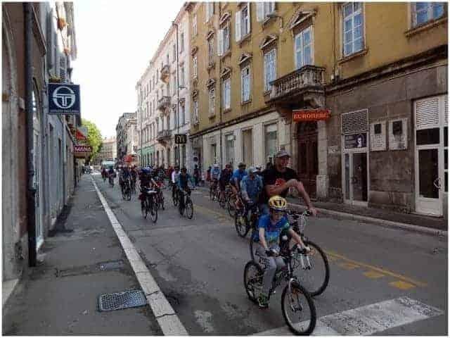 Der hintere Teil des Teilnehmerfelds der Biciklijada. Foto: InIstrien.hr, Autor: Enio Pašalić
