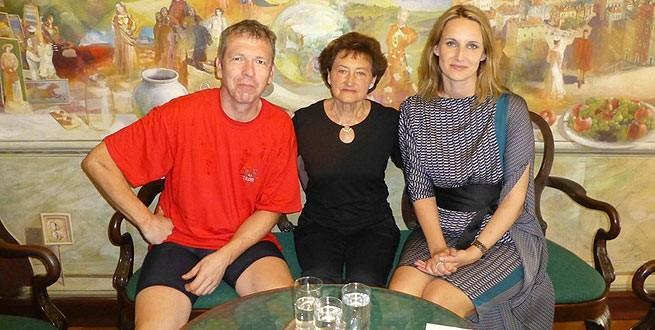Markus Groß und Frau Elena Puh Belci. Die Dame in der Mitte kennenwir leider nicht. Foto: Pula.hr