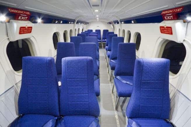 Das Innere des Fluzeugs. Foto: ec-air.com