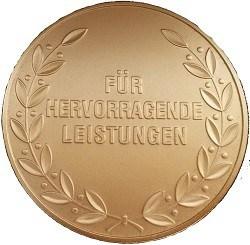 Die Kehrseite der Medaille aus Nürnberg.