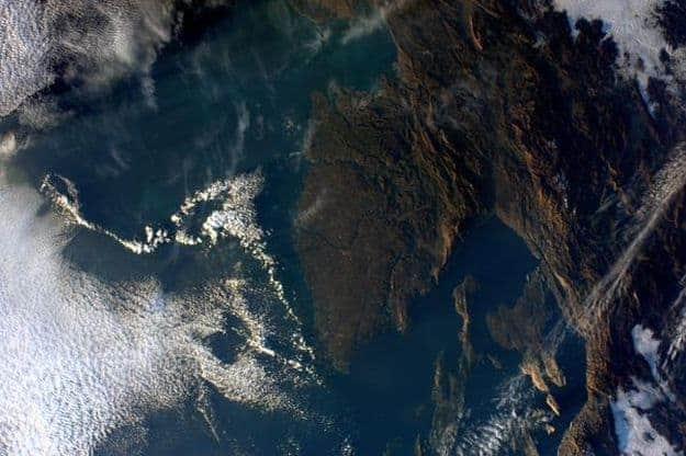 Die Halbinsel Istrien aus über 400 Km Höhe. Foto: Twitter