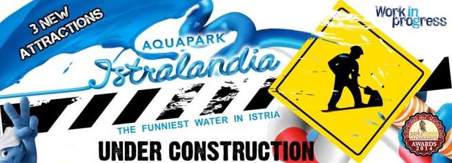 Auch 2015 bleiben die Werbeslogans des Istralandia auf Kroatisch, Deutsch und Englisch gleichermaßen unverständlich. Foto: Facebook