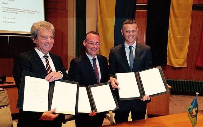 Frank Hämmerle, Peter Friedrich und Valter Flego. Foto: istra-istria.hr