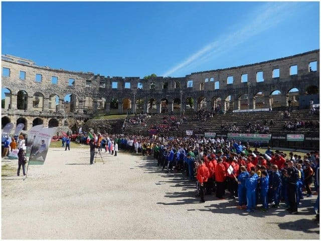 Eröffnungsfeier des KOMM MIT Istria Cup 2014 im Amphitheater von Pula. Foto: InIstrien.hr, Autor: Enio Pašalić
