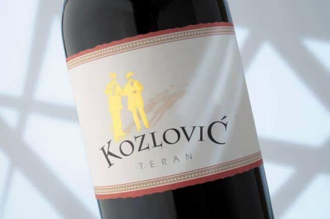 Einer der besten Istriens - Teran von Kozlović. Foto: Vinarija Kozlović