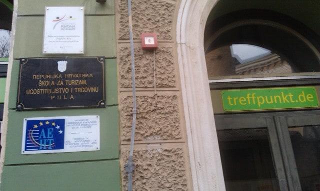 Die Schule für Tourismus, Gastgewerbe und Handel in Pula ist Partnerschule des Goethe-Instituts. Foto: InIstrien.hr