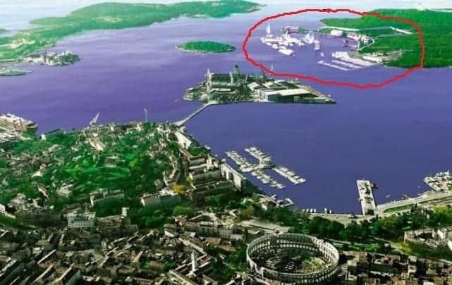 Die Lage der neuen Marina. Foto: Glas Istre