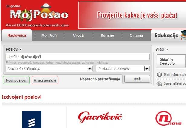 Kroatiens größte online Jobbörse - Moj-Posao.net