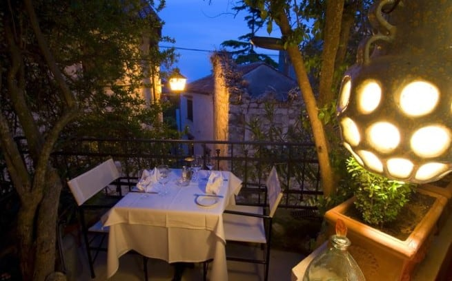 Der Romeo & Julia-Balkon im Restaurant Monte in Rovinj. Foto: Petr Blaha