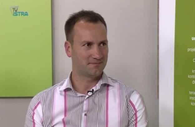 Nikola Benvenuti stellt die Vinistra auf TV Istra vor. Foto: Screenshot Youtube