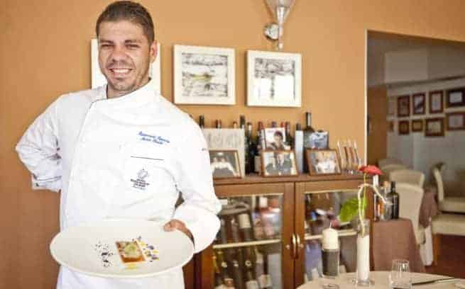 Chef Marin Rendić im Restaurant Pepenero in Novigrad. Foto: Pepenero