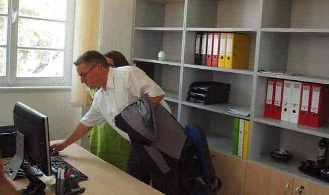 Minister Peter Friedrich bei InIstrien.hr. Foto: Davor Mandić