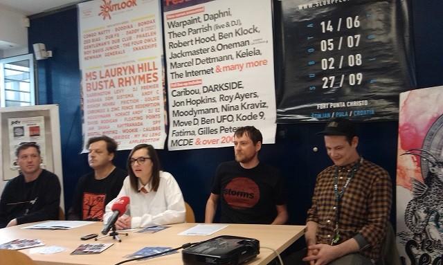 Das Team von Pozitivan ritam v.l. Davor Uljanić, Boris Bjelica, Maja Gujinović, Danijel Sikora und Vedran Meniga. Foto: InIstrien.hr