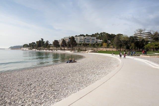 Der neue Strand in der Lone Bucht von Rovinj. Foto: TZ Rovin