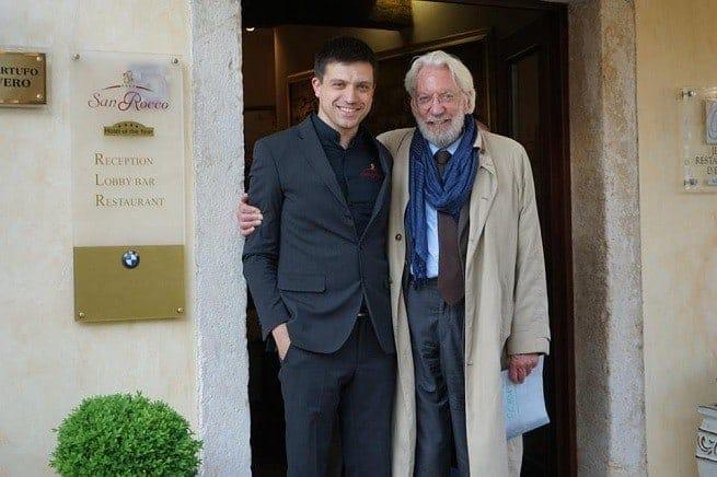 David Sutherland in Brtonigla mit dem Junior-Chef des San Rocco. Foto: Facebook