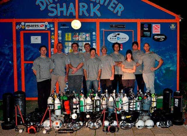 Die Teilnehmer an der Expedition zum Wrack. Quelle: Diving Center Shark Medulin