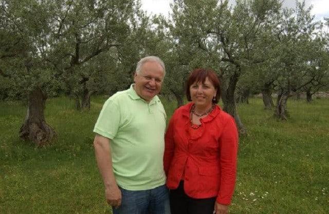 Duilio und Bosiljka Belić von Olea B.B. Foto: Istria-Gourmet.com, Autor: Saša Halembek