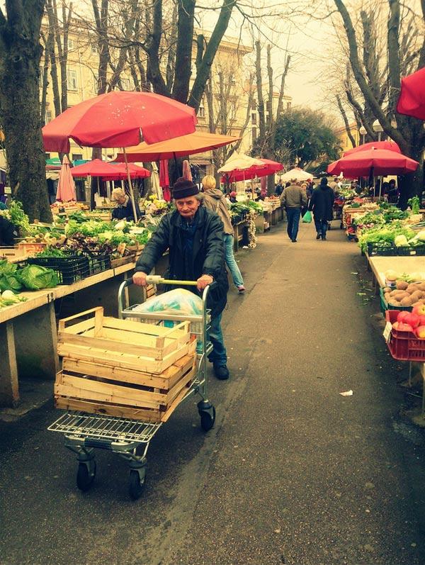 Markt in Pula - Nur keine Hektik, Foto: InIstrien.hr, Autor: Enio Pašalić