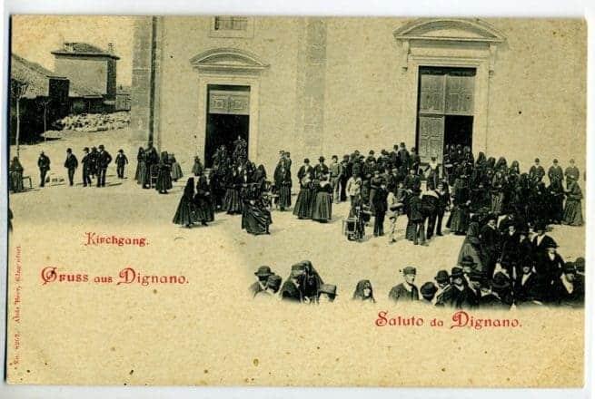 Postkarte mit Motiv aus Vodnjan aus dem Fundus des Geschichts- und Schifffahrtsmuseums (PPMI) in Pula, Kustodin: Gordana Milakovic